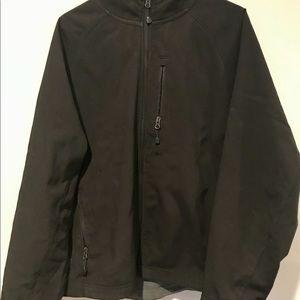Landway Hooded Matrix Black Soft-Shell Jacket